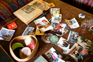 We gathered old photos of them for everyone to peruse, setting them out on Wendy's coffee table.